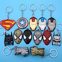 Animal batman animals - Superhero Avengers Key Chain Bag Hangs Key Rings Toys Iron Man Superman Batman Spiderman Keyrings Zinc Alloy Gift for Children DHL Free