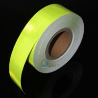 Whole Body automobile tips - 5CM x Meter Fluorescent yellow green Reflective Sticker Automobile luminous strip car motorcycle Decoration sticker