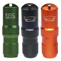 38547-BK aluminium capsule - Portable Waterproof Aluminium EDC Capsule Pill Money ID Container Holder Keyring