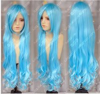 aqua hair color - gt gt gt new vogue Hot Sell color can choose cm Aqua Blue Wavy Lolita Princess Party Cosplay Wigs