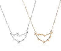astrology capricorn - Fashion New Capricorn Zodiac Signs Astrology Necklace Constellation Necklaces for Women Girls Birthday Jewelry Gifts N177