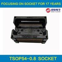 al por mayor la conversión de tamaño-TSOP54-0.8 IC Socket de prueba Tamaño de la viruta 18x22mm Quemadura en zócalo Programming Socket Adapter Conversion Block