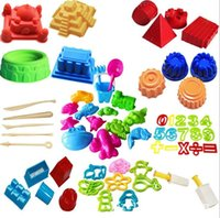 Wholesale play sand swimming beach toys children play in the sand mold kit combination tool set