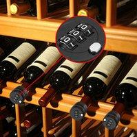 Wholesale Plastic Bottle Password Lock Combination Lock Code Stopper Wine Liquor Bottle Preservation Vacuum Wine Bottle Stopper Password Lock KKA1167