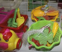 Wholesale Children s beach toy car set baby play sand dug sandwiched large shovel play water bath cassava tool