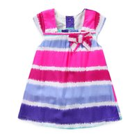 baby clothes decorations - summer girls dresses baby kids clothes colorful striped sleeveless girl dress children skirt bow decoration