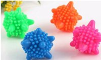 Wholesale 1PCS Convenient Clear Laundry Balls Fabric Washing Balls Clothes Cleaning Tool PVC Fashion Personal Care Ball Color Random