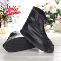 Wholesale New Rain Shoes Covers Women Men Solid Rain Boots Waterproof Casual Non slip Antifouling Platform Ladies Rain Boots Design Simple Easy