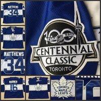 Wholesale Youth Centennial Classic Premier Toronto Maple Leafs Hockey Jerseys Anniversary Patch Mitchell Marner Auston Matthews Jersey