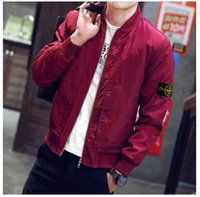 Wholesale new stone autumn mens casual clothes jacket bomber jacket and island coat stone Collar jacket