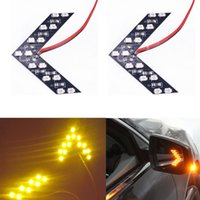 arrow yellow - Car styling Amber Arrow Panel SMD LED Car W5W For Car Side Mirror Turn Signal Indicator Light Car led Parking