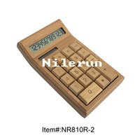 Wholesale solar power and coin batteries digit bamboo calculator