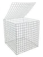 Wholesale 3mm mx1mx1m Galfan Gabion Basket High Qualiy Weled Gabion Mesh for Retaining Wall and Soil Reservation