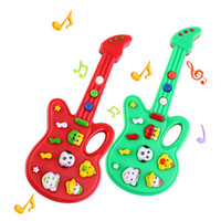 Wholesale Funny Kids Baby Electronic Guitar Toys Sound Rhyme Developmental Musical Instruments Toy Gift