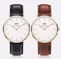 Wholesale 2017 top Brand Daniel Welington fashion leather dw wartches mens dw watch leather mm for men women watch dw men sport quartz watch relojes