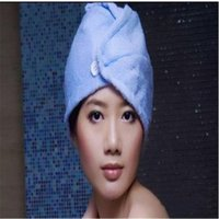 Wholesale Microfiber Magic Hair Dry Drying Turban Wrap Towel Hat Cap Quick Dry Dryer Bath Makeup Towel cm