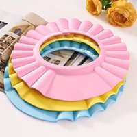 Wholesale Baby Kids Waterproof Shield Shower Bath Bathing Cap Toddler Infants Shampoo Hat