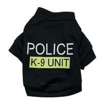 Wholesale Fashion Dog Clothes Vest Cotton Shirt Animal Costume Dog Suit Pet Puppy clothing Cheap Dog Clothes Supplies Police K9 Unit