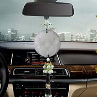 Car colgante, jade doble cara valiente fuera de la seguridad del espejo retrovisor decorativo colgante