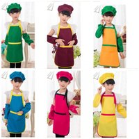 Wholesale Child Baby Kindergarten Painting Aprons Antifouling Cuffs Easy To Wash Dry Durable Pinafore All Seasons Can Be Used Apron Universal yz2