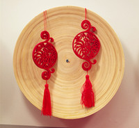 Wholesale Bamboo Plate and Chinese Style Year of the Rooster Home Decoration Hanging Wall Special Chinese Red New Year