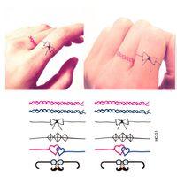 arm ring tattoos - Miniature Finger Hand Fake Ring Tattoo Stickers Waterproof Women Cute Bow Design False Temporary Tattoo Sticker
