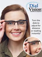 al por mayor lectura de la visión-VENTA CALIENTE HD Dial Vision lentes ajustables de la lente fijaron para las lectoras viejas medias de la lectura de los lectores de los lectores de la botella de los lectores