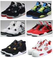 buy toro bravo basketball shoes - High Quality Retro 4 Men Basketball Shoes 4s White Cement Toro Bravo 4s Superman Bred Thunder Sports Shoes With Box