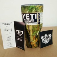 beer camo - 30 oz Pink Army Green Camouflage YETI Cups Stainless Steel YETI Rambler Coolers Tumbler Travel Vehicle Beer Mug Bilayer Vacuum Car Camo Cups