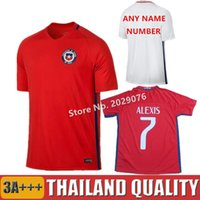 alexis clothing - 2016 Soccer Jersey Chile camisetas de futbol SANCHEZ VALDIVIA MEDEL VIDAL Home Red Football Clothes ALEXIS America ShirtS Top Quality