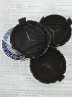 Wholesale For MERCEDES SET OF BLUE WREATH CENTER WHEEL HUB CAPS MM COVER CHROME EMBLEM CAP