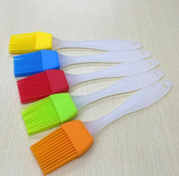 Wholesale Hot Silicone Basting Cooking Pastry Brush Kitchen heat resistance silicone BBQ brush with different color DHL