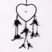 big dream catcher - Indian Style Big Heart Dream Catcher Automotive Accessories Dream Catcher Black Car Ornaments Creative Home Decorations