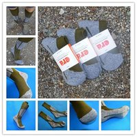 Wholesale 2017 Cheap Climbing Woolen Socks Sport Sock Long Outdoor CoolMax Thicken Army Green High Quality