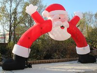 inflatable advertising arches prices - 8*4 Christmas Event Advertising Inflatable Arch Santa Model Claus Archway A054