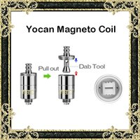Cheap Original Yocan Magneto Coils Ceramic Coil for Yocan Magneto Wax Pen Vaporizer Kit With Coil Cap & Dab Tool