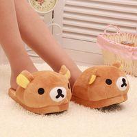bear slippers sale - Cheap Easy Bear Plush Winter Warm Home Cotton Novelty Slippers Hot Sale Cartoon Cute Soft Women Floor Shoes size