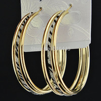 big cross earrings wholesale - New Factory Direct Selling Freeshipping Fashion pairs Big Zebra Frosted Gold Hoop Earrings Jewelry A1051