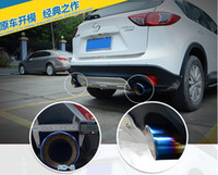 exhaust pipe for muffler - Chrome Stainless Steel Exhaust Tip Tail Pipe Muffler For MAZDA CX CX5 End Pipes Exterior Accessories Car Styling