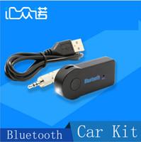 Mains libres universel Avis-Universal 3.5mm Streaming voiture A2DP sans fil kit voiture Bluetooth AUX Audio Music Récepteur adaptateur mains libres avec micro pour téléphone MP3