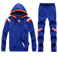 Wholesale New Winter Mens Sports Running Long Jacket Suit Kids Soccer Training Skinny Leg Pants Pantalon Tracksuits Sportswear Uniform Set