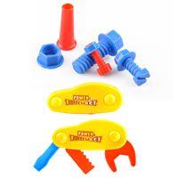 Wholesale Boys Gifts Kids Toys Boys Simulation Classic Repair Kit Engineer Maintenance Tools Pretend Play Random Color VE0284