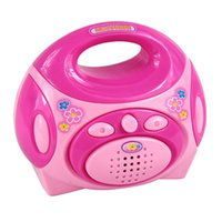 Wholesale Mini Simulation radio educational toy for kid lovely classic electric furniture toy the best gift for children Pink