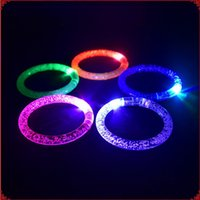 Unisex 3 & 4 Years Plastic Wholesale Brightness Bracelet Glowing Wristbands Flashing Belt for Wrist LED Hand Ring Gifts Crystal Bubble Band Light up bracelet