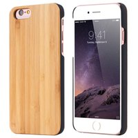 bamboo phone cases - Vintage Natural Wood Wooden Hard Bamboo Shockproof Phone Cover Back Case for iPhone s Plus Samsung S7 S7 edge