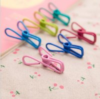 Wholesale new korean stationery office school supplies cute colorful multifunctionamini craft metal memo clip photo clips