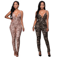 Wholesale NEW Sequins Embellished Overall woman onesie jumpsuit trousers tight sequins suit PLAYSUIT NIGHTCLUB FANCY DRESS SMR049 SMLXL