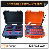 Wholesale CE passed Fireworks firing system DHL FedEx M range waterproof Remote cues Firing System DBR02 X24