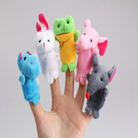 Cheap Wholesale-Lovely Cute 10Pcs a Set Baby Children Kids Plush Animal Finger Biological Play Learn Story Telling Tale Toys Dolls