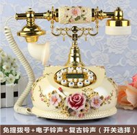 Wholesale Brand gdids Antique telephone rustic vintage telephone quality home telephone Handsfree backlight Caller ID